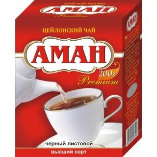 Чай АМАН черный листовой цейлонский 200 г